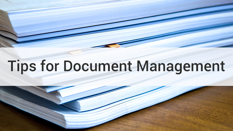 Tips for Document Management